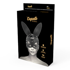 Coquette Vegan Leather Mask With Bunny...