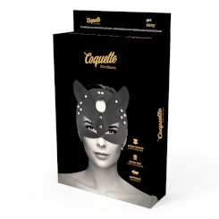 Coquette Vegan Leather Mask With Cat...