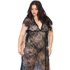 Leg Avenue Lace Kaften Robe And Thong...
