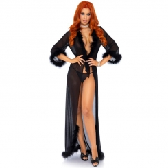 Leg Avenue Marabou Trimmed Long Robe...