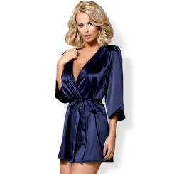 Obsessive - Satinia Robe Blue